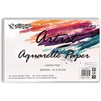 JMD Artist Aquarelle Paper Water Paper A4 Size 300GSM Sketch Book, Watercolor Paper Notepad For Painting Drawing Diary…