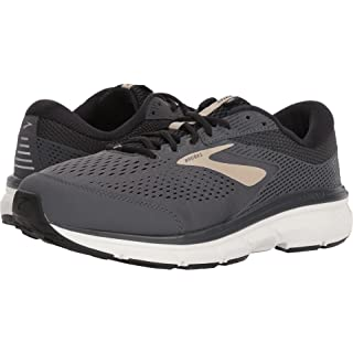 Brooks Mens Dyad 10 Running Shoe, Grey/Black/Tan, 9 D(M) US
