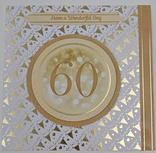 60th Birthday Handmade Card With Personalised Braille Message For Blind Or Visually Impaired