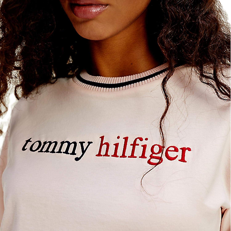 Tommy Hilfiger Cn tee SS Logo Top de Pijama para Mujer