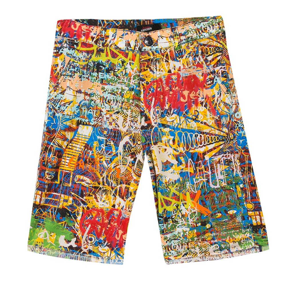 Junior Gaultier Boys Graffiti Shorts