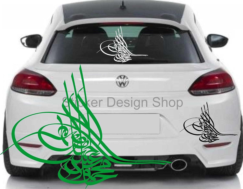Osmanische Tugra Auto Aufkleber Sticker Heckscheibe Islam Wandtattoo ...