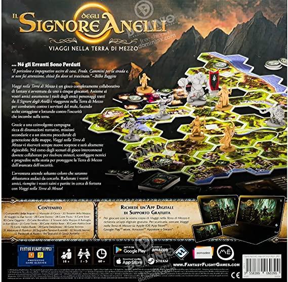 Asmodee-Il Signore Degli Anelli, Viaggi Nella Terra di Mezzo, Juego de Mesa, Color, 10700: Amazon.es: Juguetes y juegos