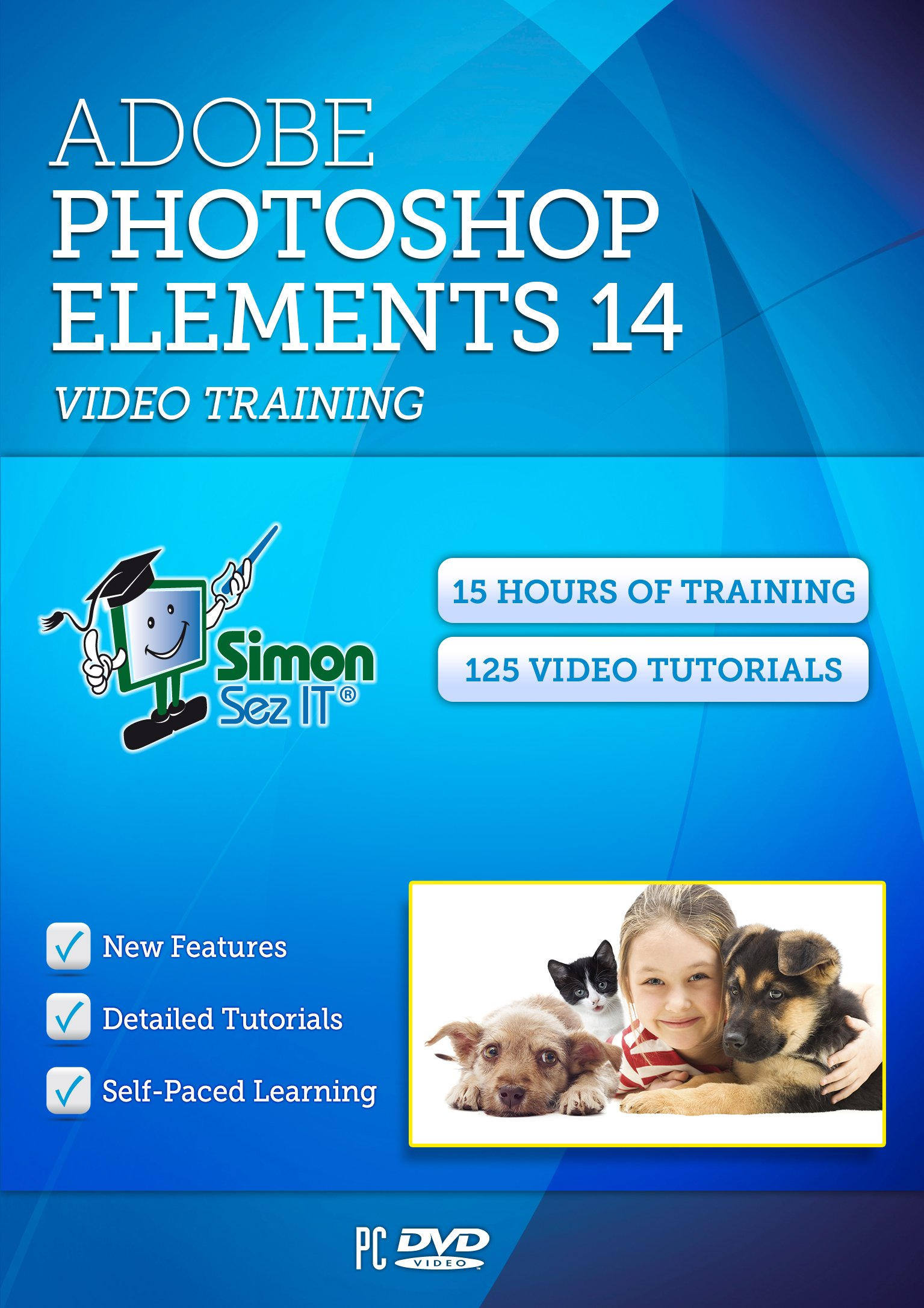 Learn Photoshop Elements 14 Video Training Tutorials - 15 Hours of Training by Simon Sez IT