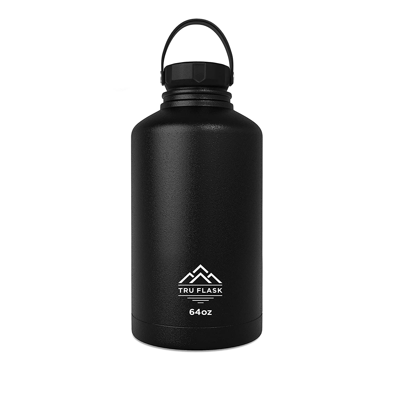 【気質アップ】 Truフラスコステンレススチールウォーターボトル – Eco 二重壁and Wide Mouth – – 真空断熱 – – 着せ替え可能 – Eco Friendly、BPAフリー – 64 oz ブラック B078HS2X9L, 格安新品 :f69b104b --- a0267596.xsph.ru