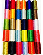 30 bobinas de seda para máquina de coser, hilo de bordar Brother Singer Top colores