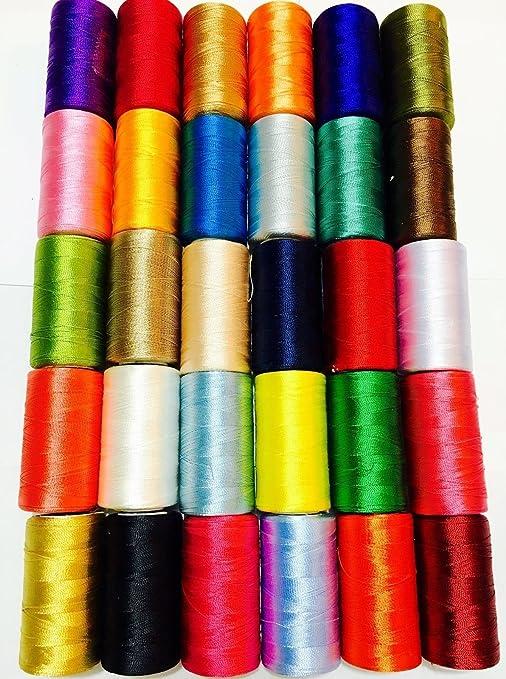 30 bobinas de seda para máquina de coser, hilo de bordar Brother ...
