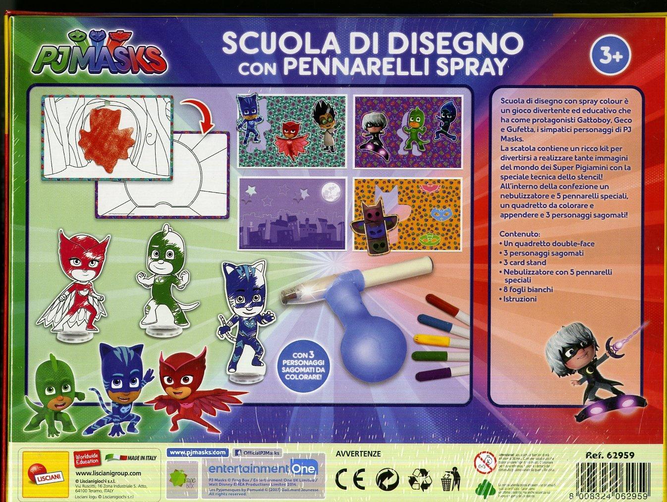 Lisciani Giochi 62959 - PJ Masks Escuela de Dibujo con espray Colour.: Amazon.es: Juguetes y juegos