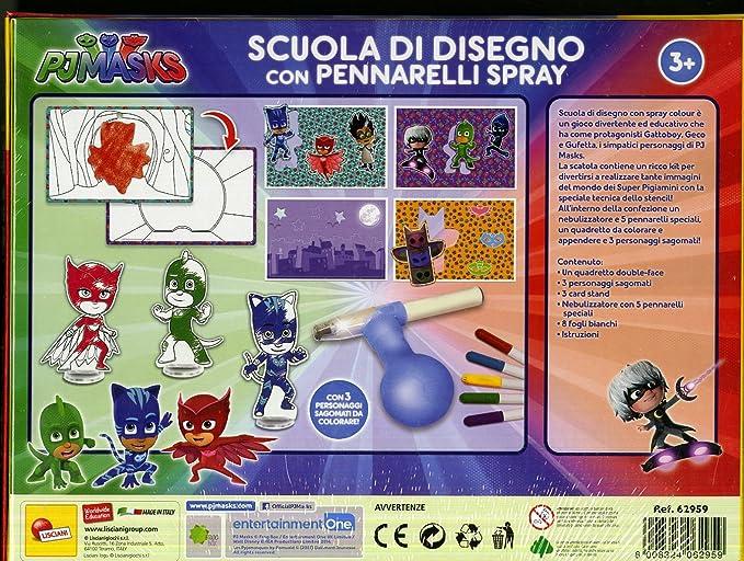 Unbekannt Lisciani Spiele Pj Masks Malschule 62959 Mit Spray