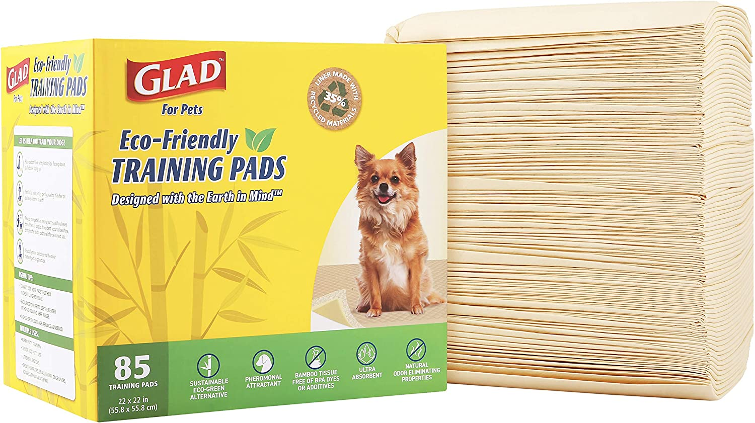 Glad for Pets Activated Carbon Puppy Training Pad