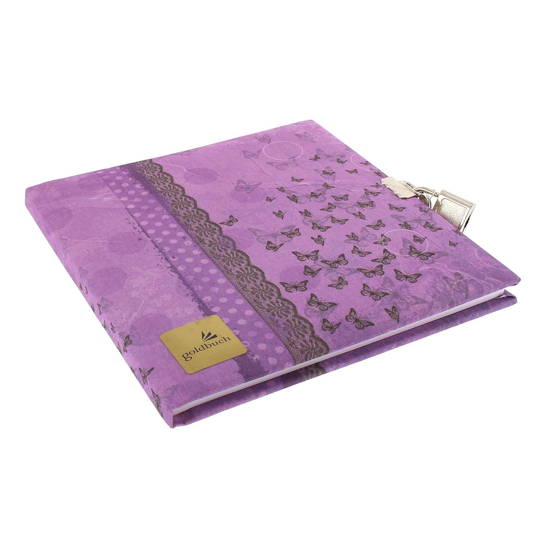 Goldbuch 44115–Journal Intime Collage Papillon, 96Pages, 16,5x 16,5cm, Violet 96Pages 5x 16 5cm 44 115