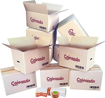 Cajeando | Pack Mudanza de 5 Cajas de Cartón Tamaño 430 x 300 x 250 mm