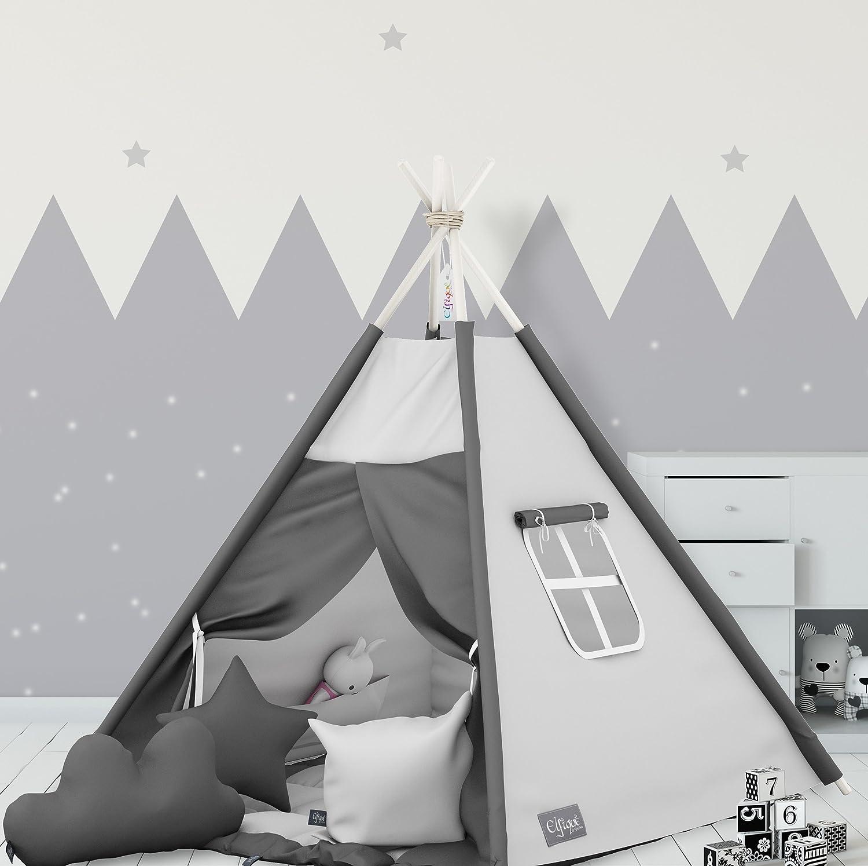 'tipi tenda degli Indiani elfique con doppio imbottito coperta e tre cuscino Klara Brist