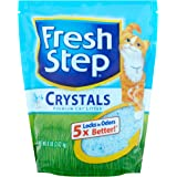 Fresh Step Crystals, Premium, Clumping Cat Litter, Scented, 8 Pounds (8 lb - 3 Packs)