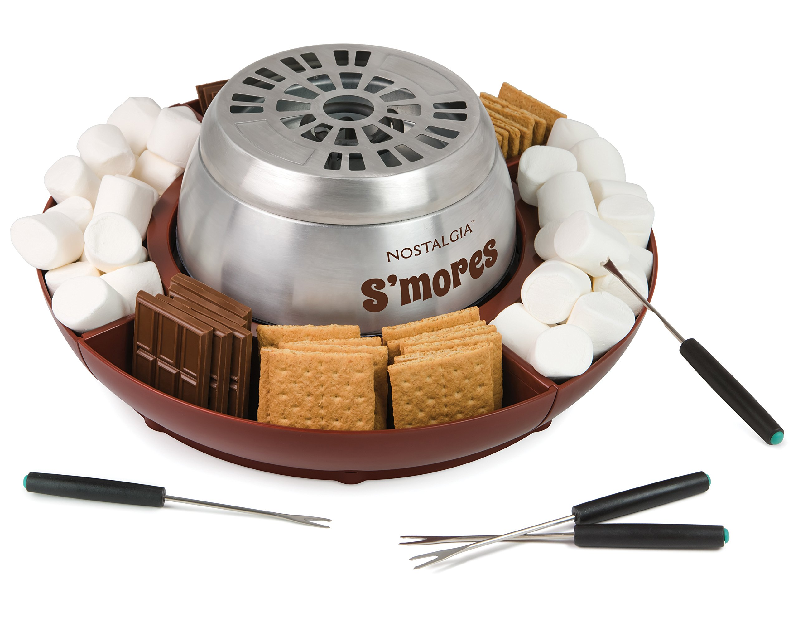 Nostalgia LSM400 Electric Stainless Steel S'mores Maker