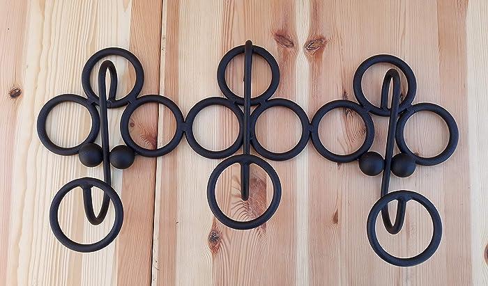 Perchero hierro, perchero decoración interior aros negro ...