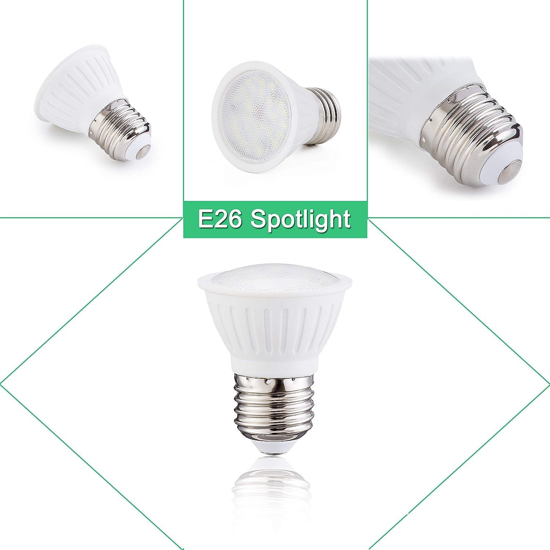 120/° Beam Spread 700 lumens Pack of 10 PAR16 LED Flood Bulb 2700K Warm White,7Watt E26 Medium Base Socket Not Dimmable,Track Recessed Lighting 75W Incandescent Bulb Equivalent CRI 85+,120V