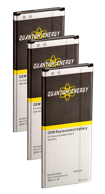 Amazon.com: 3x Baterías QUANTUM ENERGY para Samsung Galaxy ...