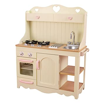 Merveilleux KidKraft 53151 Prairie Kitchen. Wooden Kids Play Kitchen With Working Knobs  On Oven And Removeable