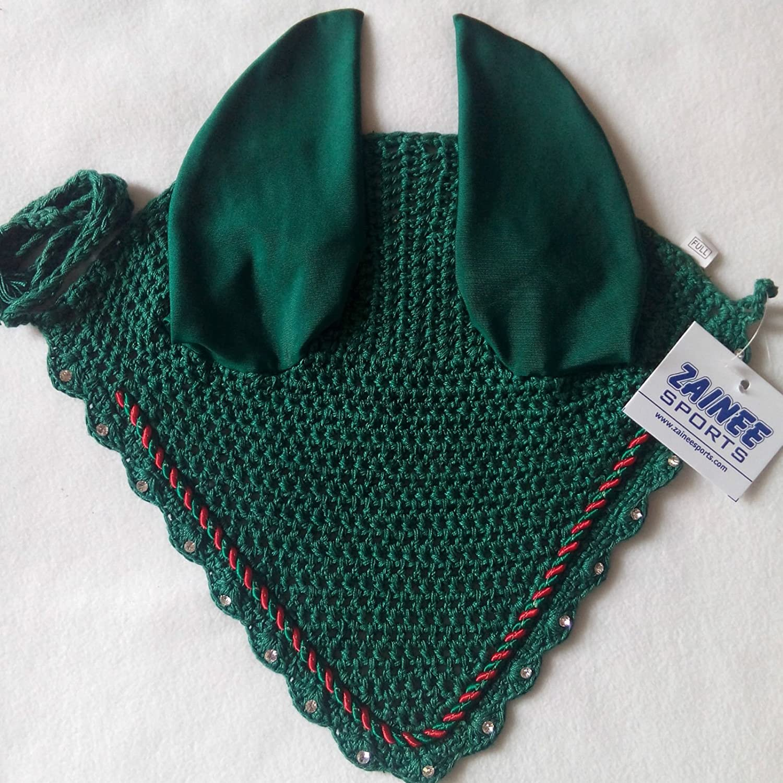 chapeau /équestre Bonnet pour cheval Zainee Sports en coton respirant avec voile anti-mouches pour oreilles