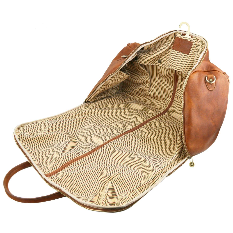 8f08ac0448 Tuscany Leather Antigua Sac de Voyage/Housse de Transport vêtements en Cuir  Marron: Amazon.fr: Bagages