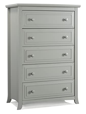 Graco Kendall 5 Drawer Chest, Pebble Gray, Kids Bedroom Dresser With 5  Drawers,