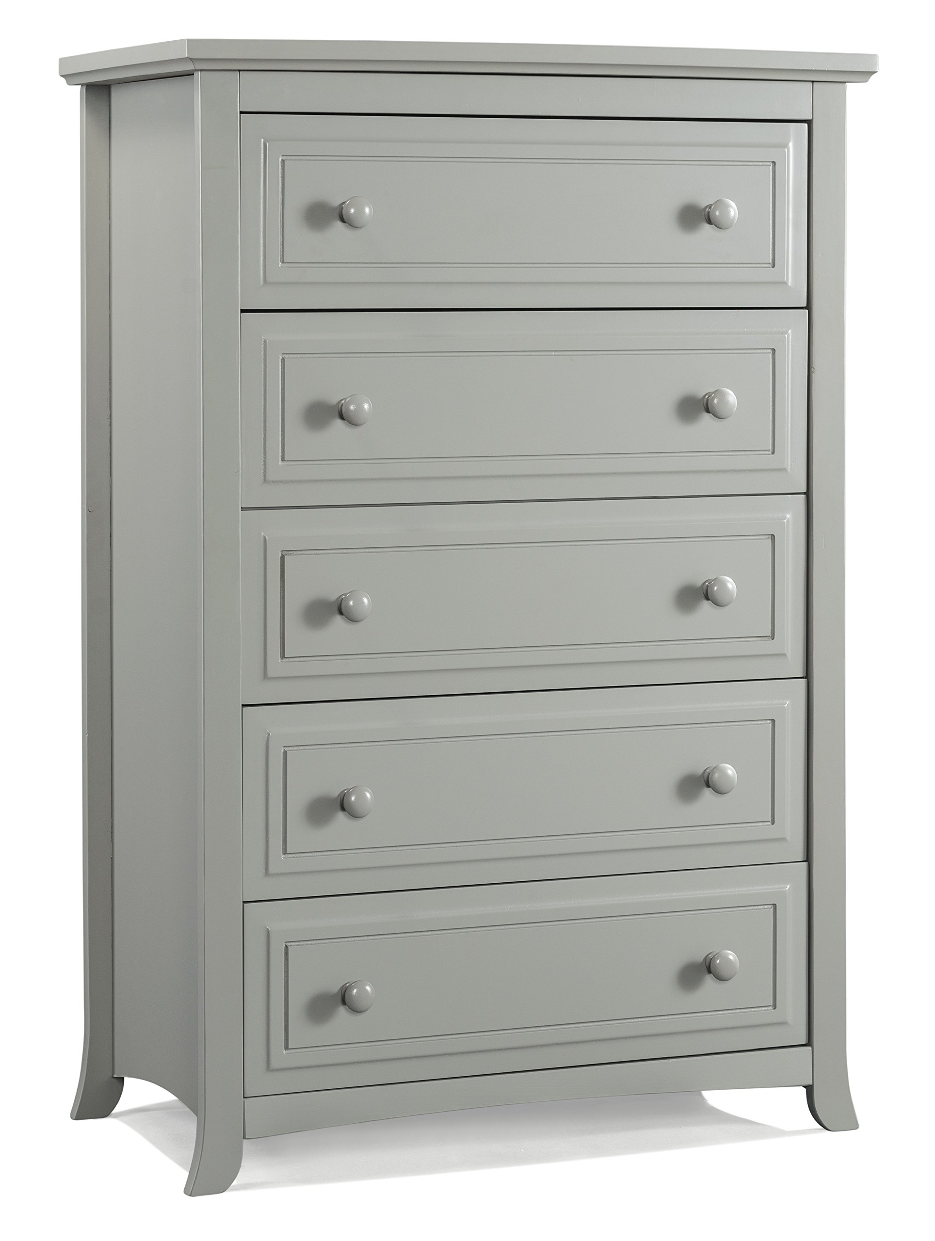 Graco Kendall 5 Drawer Chest, Pebble Gray