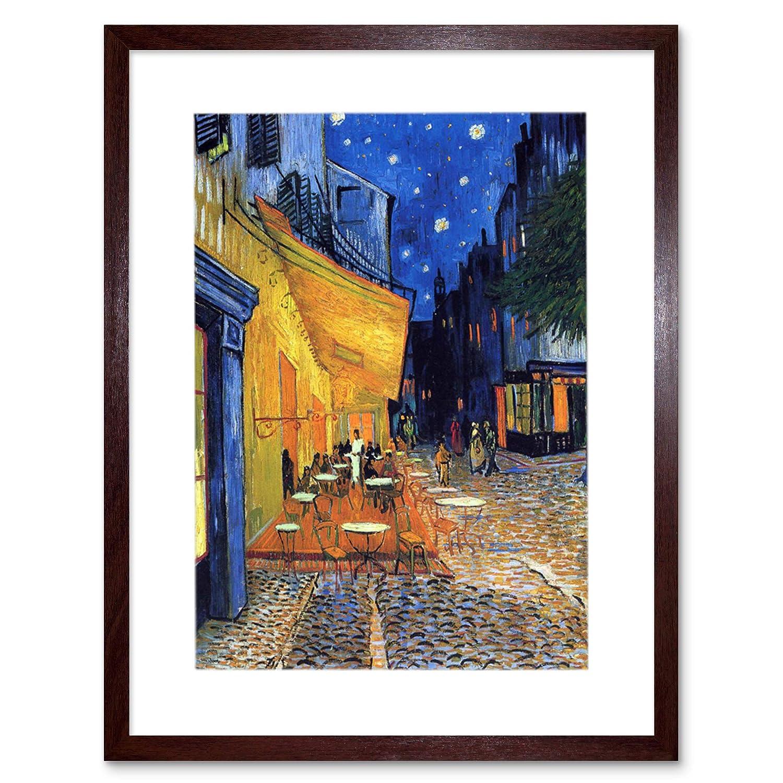 Wee Blue Coo Vincent Van Gogh Cafe Terrace Place Du Forum Arles 1888 Old F 14 Framed Wall Art Print