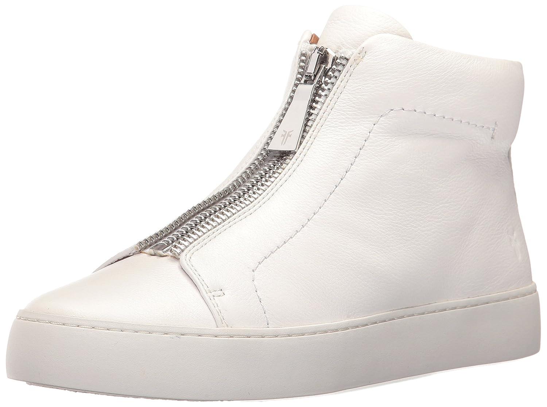 FRYE Women's Lena Zip High Fashion Sneaker B01MT27D8H 11 B(M) US|White Tumbled Cow