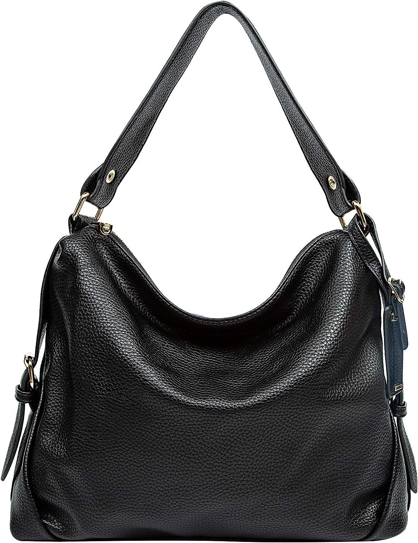 KILAMAL Hobo Handbags for Women Ladies Designer Shoulder Bag Large Tote Purses (Black1214)