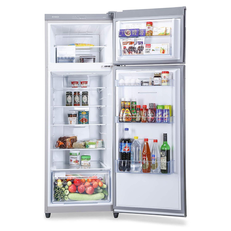 Bosch 347 L 3 Star Inverter Frost-Free Double Door Refrigerator (KDN43VL40I, Metallic)