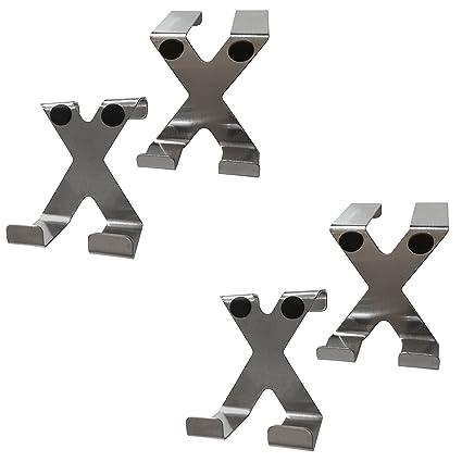 H2O-X 4 X Acero Inoxidable - Perchero para puerta Ganchos en ...