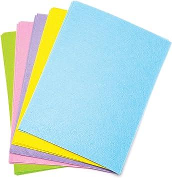 Baker Ross Pack ahorro de láminas de fieltro en tonos pastel (Paquete de 15) Perfecto para manualidades de primavera para niños: Amazon.es: Juguetes y juegos