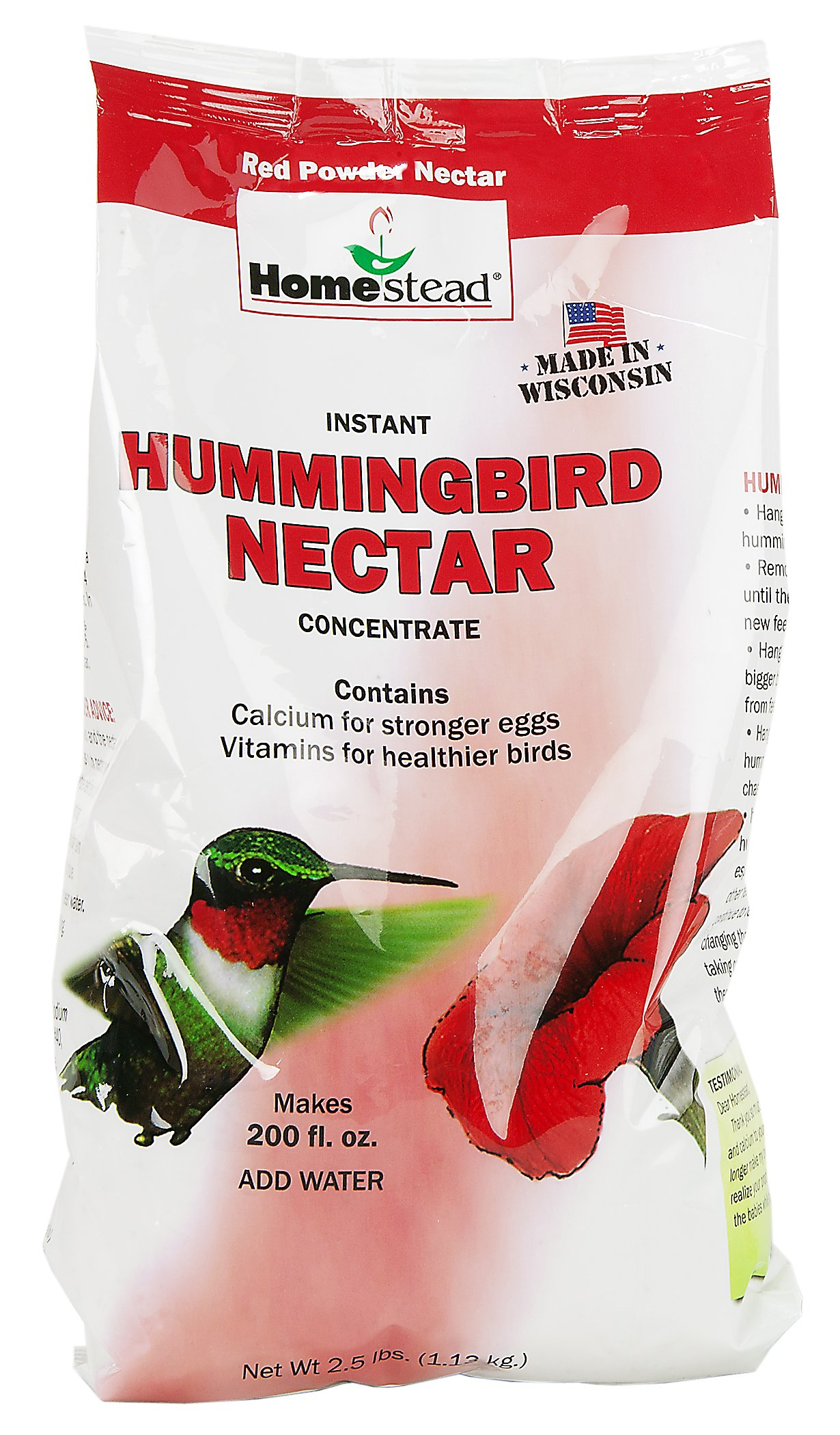 Apollo Investment, Inc.. Homestead 4302 2.5-Pound Red Powder Sugar Concentrate Hummingbird Nectar