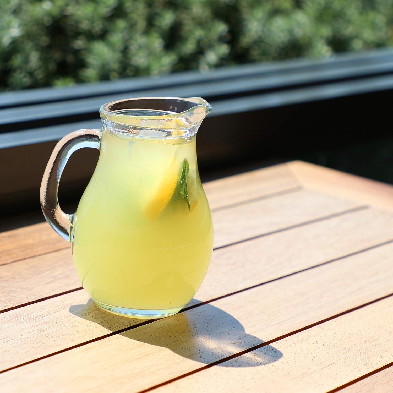 Mini-250cc Brocca in vetro trasparente per acqua limonata feste decanter per pranzo eventi t/è bevande cene succhi