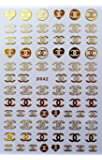 Popular Nail Manicure Sticker Brand Logo Letter Nail Sticker Back Glue Adhesive Decals Foil Manicure Nail Art Sticker…