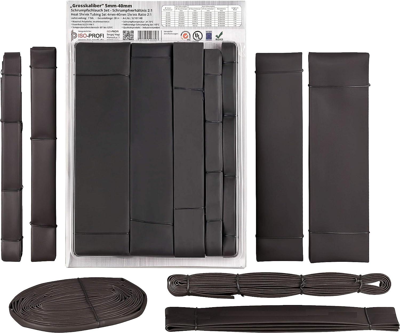 5m industrie schrumpfschlauch 2:1 ø 30mm Noir