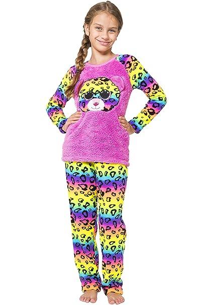 090933b09bb TY Beanie Boo Girls  Little Dotty Beanie Boo Plush Raglan Pajama Set