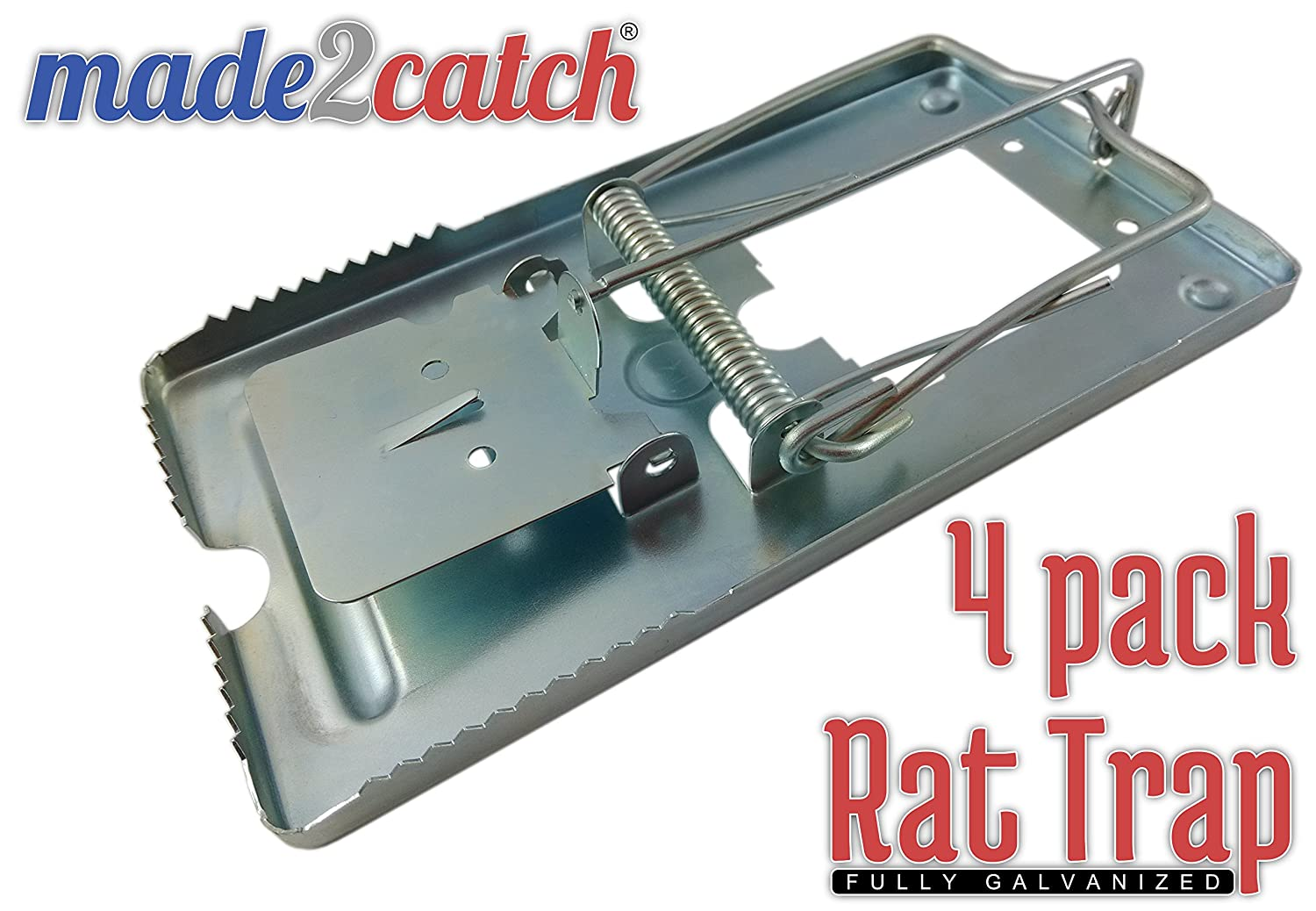 Made2catch Classic Metal Rat Trap Fully Galvanized