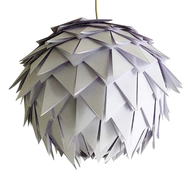 White Harlekin, weiße Lampe Leuchte Lampenschirm Pendelleuchte Pendellampe Hängeleuchte Hängelampe Papierleuchte Papierlampe Reispapierlampe Designerlampe Wohnzimmerlampe Schlafzimmerlampe Deckenlampe
