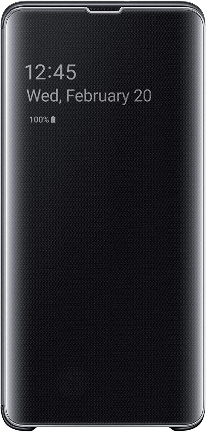 Samsung Original S10 5g Clear View Cover Samsung Galaxy S10 5g Cover Protective Case With Clear View Cover Black Elektronik