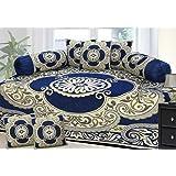 Fresh from Loom Premium 8 Piece 500 TC Chenille Diwan Set, Blue
