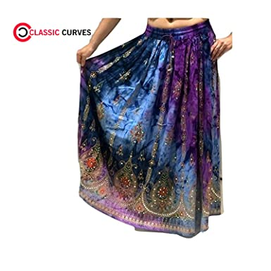69882ee9adfa CLASSIC CURVES Women s Rayon Skirt Designer Spring Summer Wear India  Clothing by  Amazon.in  Clothing   Accessories