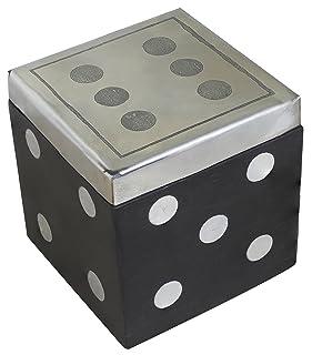 SKAVIJ Cubo da Gioco A Dadi A 6 Lati in Legno con Elemento Decorativo da Tavolo Contenitore