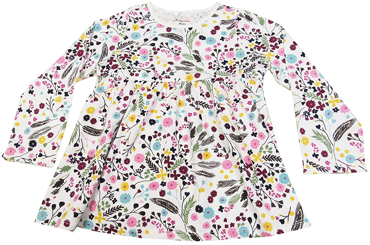 0-24 Months Floral-Print Babydoll Tunic 24 Months Angel White First Impressions Baby Girls