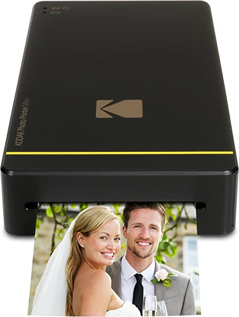 Kodak Mini Portable Mobile Instant Photo Printer - Wi-Fi & NFC Compatible - Wirelessly Prints 2.1 x 3.4