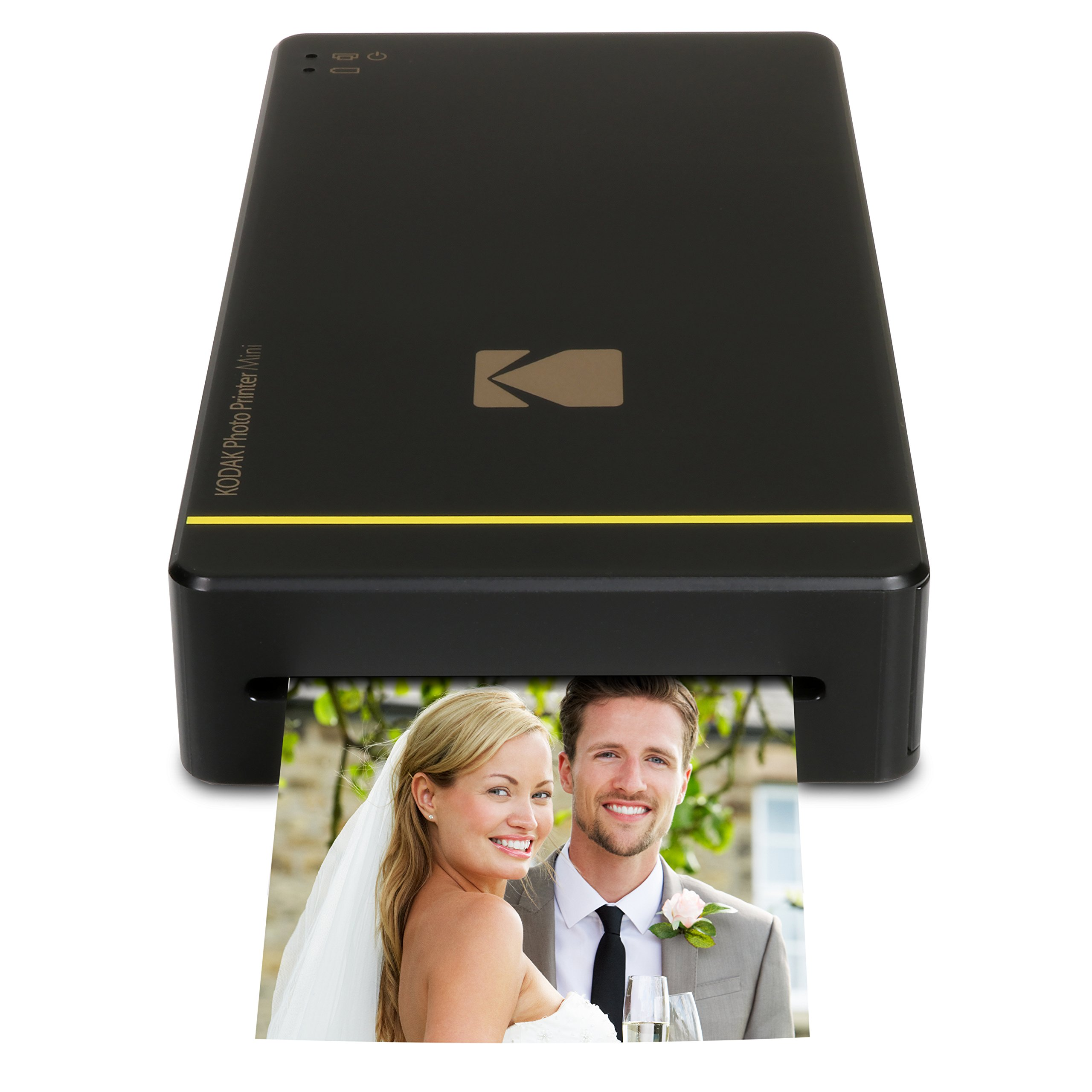 Kodak Mini Portable Mobile Instant Photo Printer - Wi-Fi & NFC Compatible - Wirelessly Prints 2.1 x 3.4'' Images, Advanced DyeSub Printing Technology (Black) Compatible with Android & iOS by KODAK