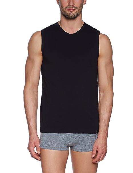 Schiesser - Camiseta interior para hombre, talla 44, color negro 000