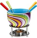 Mastrad F47521 Schoko-Fondues, Kunststoff, violett, 16 x 11,5 x 16 cm