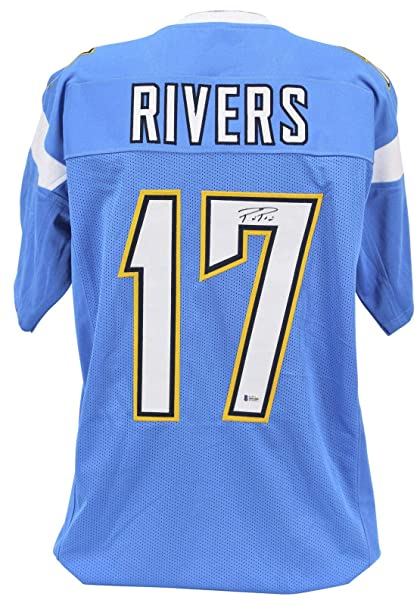 a97cd735 Philip Rivers Autographed Jersey - Phillip Powder Blue BAS Witnessed ...